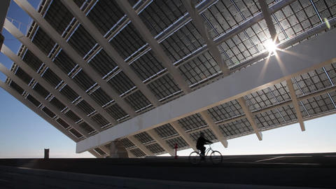 Large Solar Energy Panel stock footage