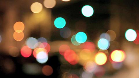 Night traffic lights Footage