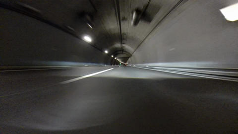 Tunnel at Night - Switzerland Stock Video Footage