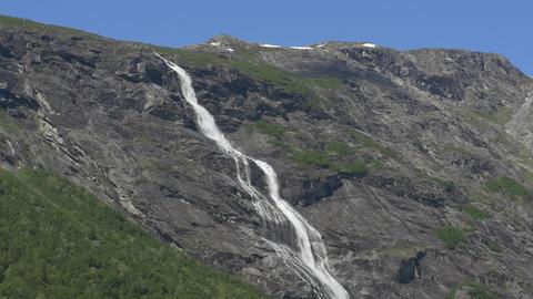 1080p, Waterfall, Mardalsfossen, Norway Stock Video Footage