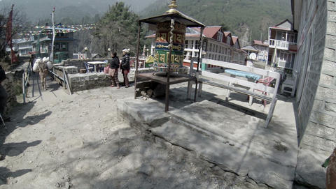 HIMALAYAS, NEPAL - MARCH, 2014: 2.7K. Mules carryi Footage