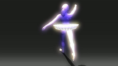 Animation of a Ballet Dancer Stock Video Footage