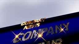 Company News On Animation Background stock footage