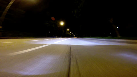Driving at night - High Speed Footage
