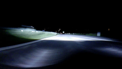 Driving at night - High Speed Stock Video Footage