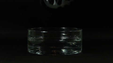 Dry ice in a big glass bowl Stock Video Footage