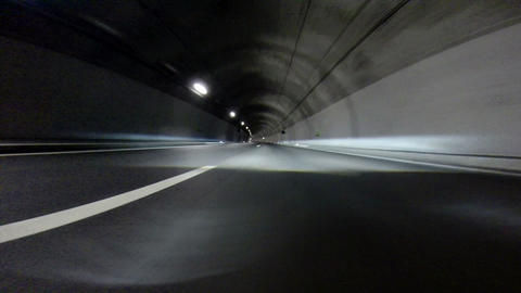 Tunnel At Night - Time Lapse stock footage