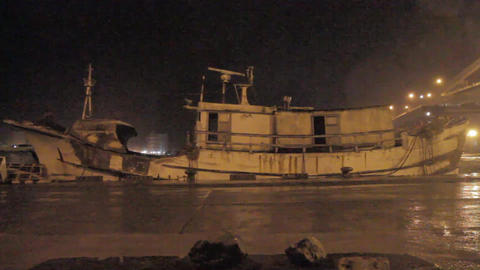 Ghost Ship Blowing In Storm 0