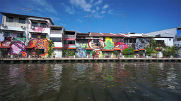 Melaka Canal Malaysia Footage