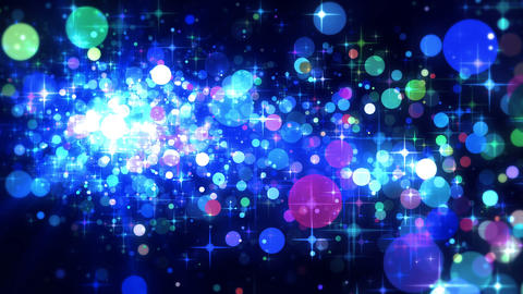 Shining Stars & Glittering Particles Playing Fancy Animation