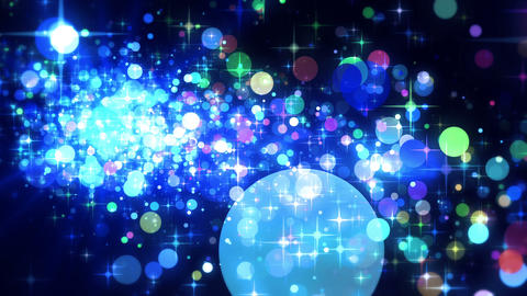Shining Stars & Glittering Particles Playing Fancy Stock Video Footage