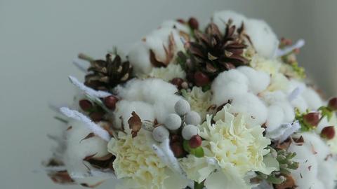 Winter bridal bouquet Footage