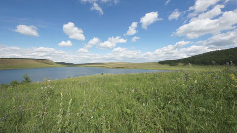 Lake Avras Static Shot stock footage