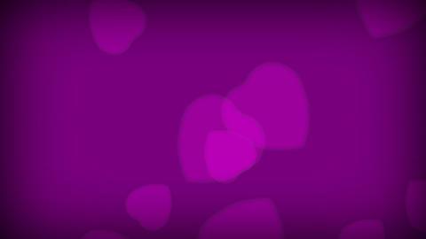 Purple Love Hearts Footage