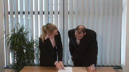 Business People Signing a Contract Footage