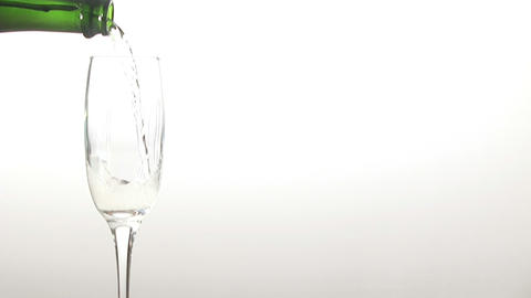 Stock Footage Pouring Champagne into a Glass Stock Video Footage