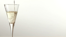 Stock Footage Pouring a glass of White Wine Footage