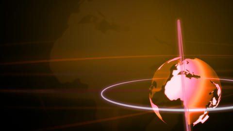 Background Animation Globe in Bronze Stock Video Footage