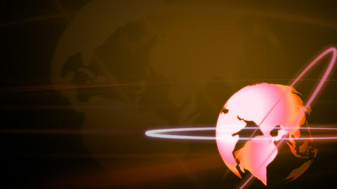 Background Animation Globe in Bronze Footage
