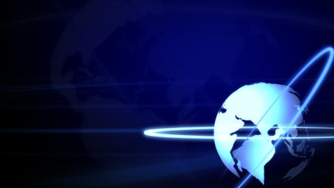 Background Animation Globe in Blue Stock Video Footage