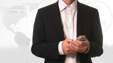 Stock Footage Of A Man On A Mobile Phone stock footage