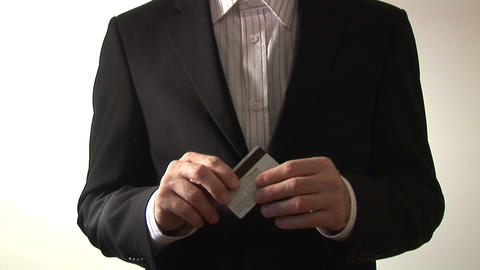 Stock Footage of a Man with a Credit Card Stock Video Footage