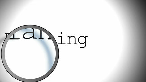 Planning Magnifying Glass Stock Video Footage