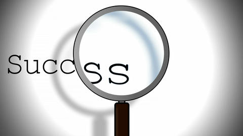 Success Magnifying Glass Footage