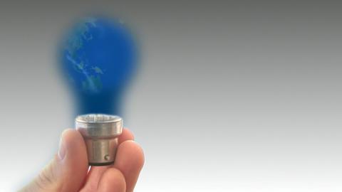 Globe Light bulb 2 Stock Video Footage