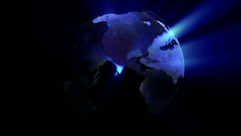Stock Animation of a Globe Stock Video Footage