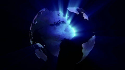 Stock Animation of a Globe Footage
