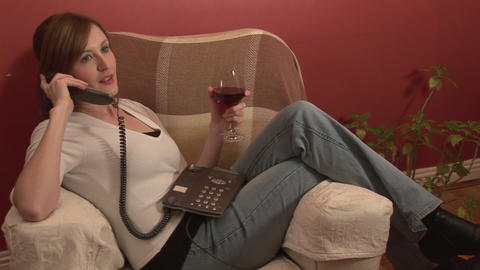 Stock Footage Relaxing with a Glass of Wine Stock Video Footage