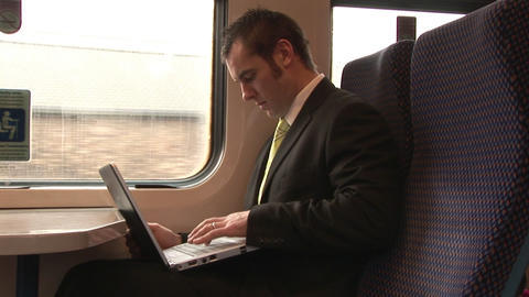 Stock Footage of Businessman Working Outdoors Live Action