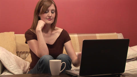 Stock Footage of Woman Relaxing at Home Footage