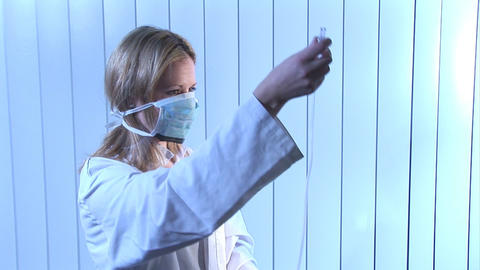 Stock Footage of Nurse Working in Hospital Footage