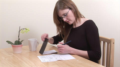 Stock Footage of Woman Working at Home Footage