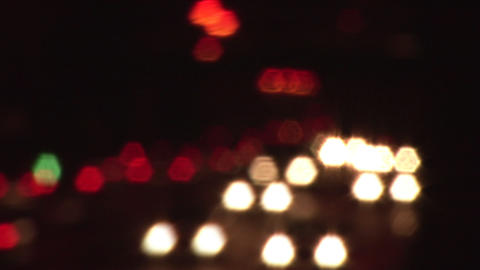 Stock Footage of Traffic Unfocussed Footage
