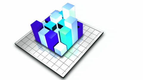 Stock Animation of 3D Graph Stock Video Footage