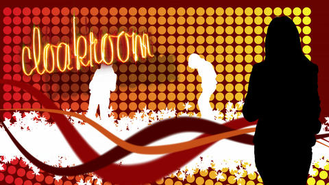 Stock Animation of Dancing in a Nightclub Footage