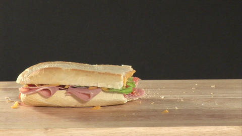 Stock Footage of a Sandwich Stock Video Footage