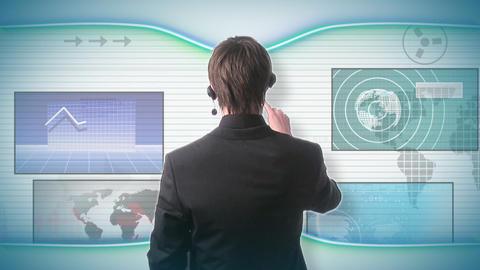 Futuristic technology Concept Footage