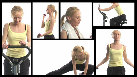 Fitness Montage Footage