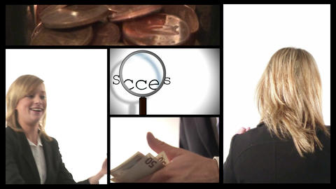 Successful Business Woman Stock Video Footage