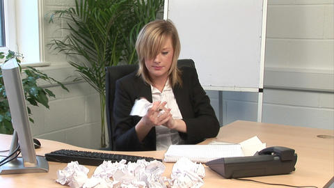 A woman Frustrated in Office Stock Video Footage