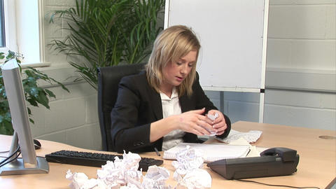 A woman Frustrated in Office Footage