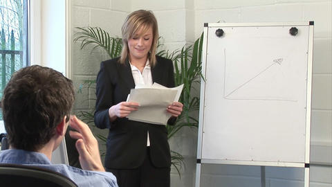Business Woman Giving A presentation Footage