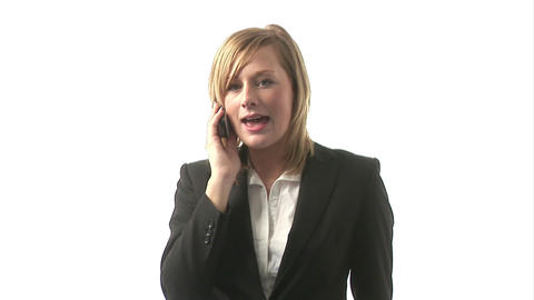 Business Woman Talking on Phone Footage
