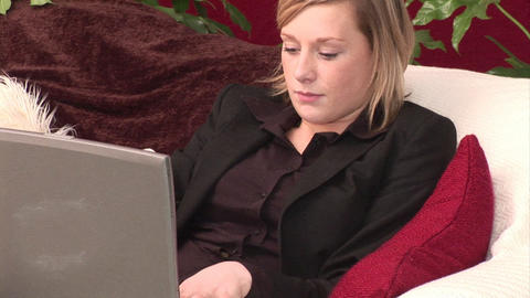 Young Adult Browsing the Internet Stock Video Footage