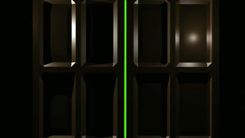 Double Doors Green Screen Stock Video Footage