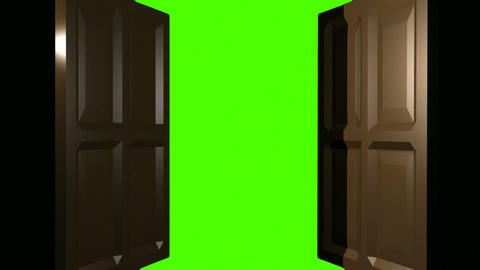 Double Doors Green Screen Animation
